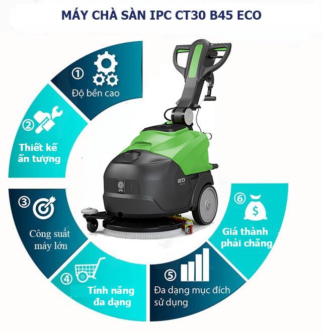 Ưu điểm máy chà sàn IPC CT30 B45 ECO