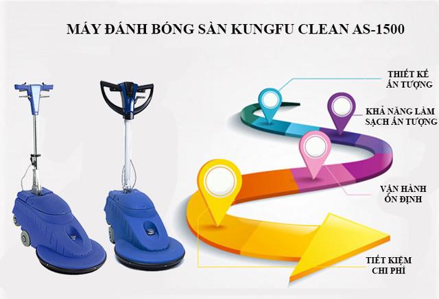 Ưu điểm thiết bị đánh bóng sàn Kungfu Clean AS-1500