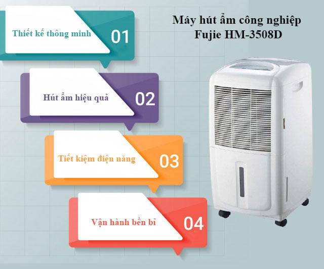 Ưu điểm của máy hút ẩm không khí Fujie HM-3508D