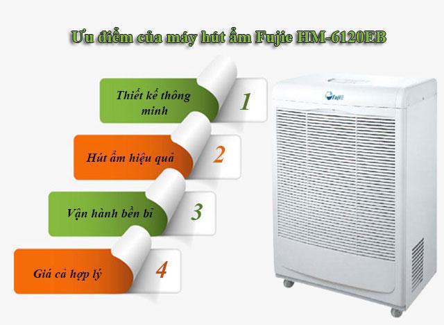 Ưu điểm của máy hút ẩm Fujie HM-6120EB