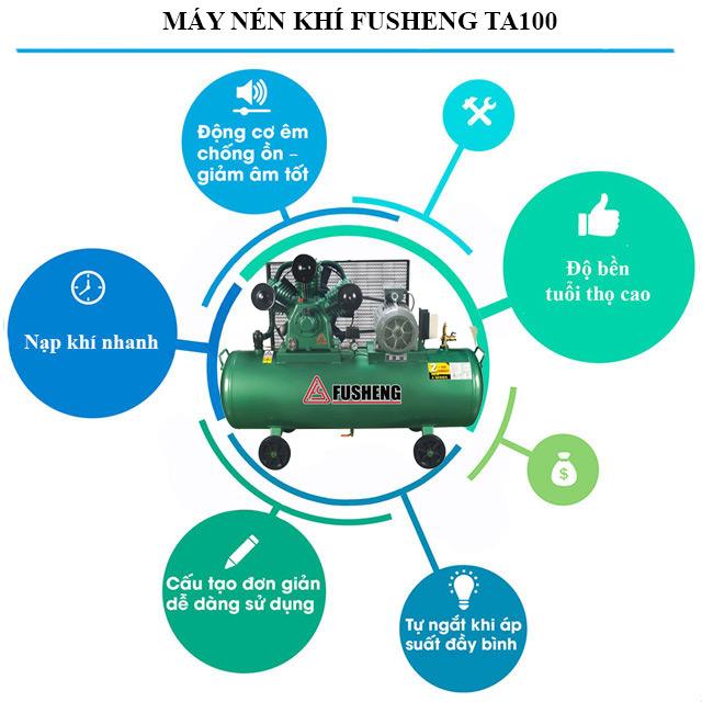 Model nén khí Fusheng TA100 có điểm gì nổi trội?