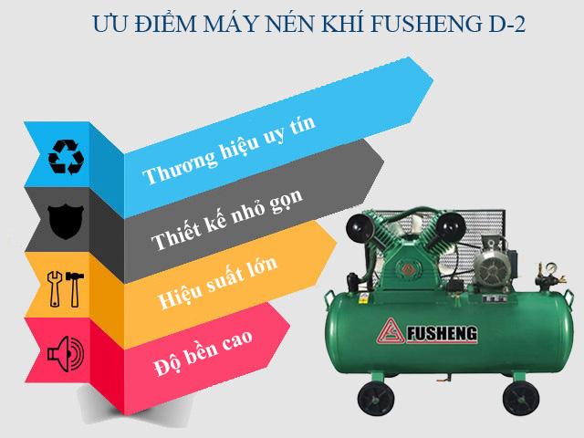 Ưu điểm nổi trội của model nén khí Fusheng D2