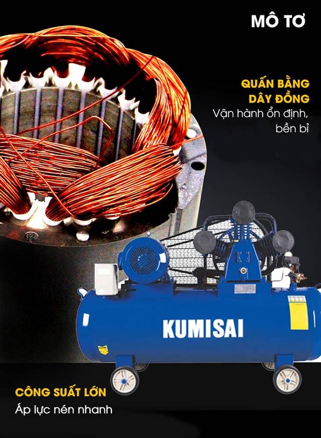 Kumisai KMS-10200 - Động cơ bền bỉ, quấn 100% dây đồng