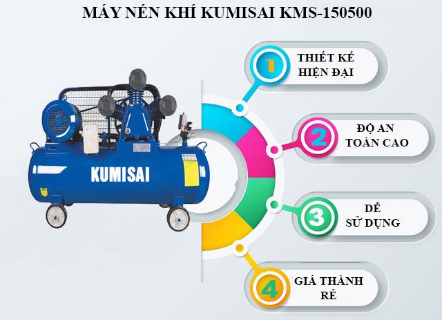 Kumisai KMS-150500 sở hữu thiết kế hiện đại cùng hiệu quả làm sạch vượt trội