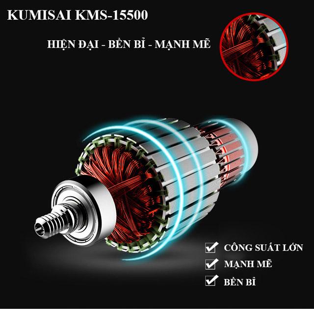 Máy nén hơi Kumisai KMS-15500 sở hữu thiết kế hiện đại, động cơ mạnh mẽ, bền bỉ