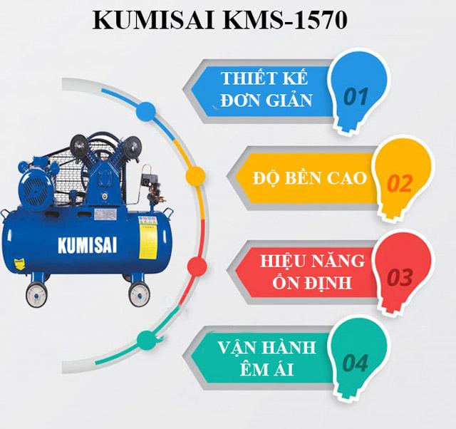 Kumisai KMS-1570 - Thiết kế nhỏ gọn, vận hành hiệu quả