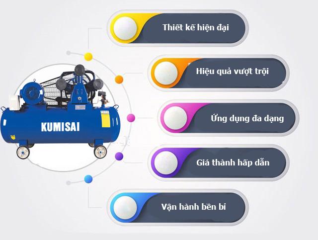Máy nén hơi Kumisai KMS-750500 có điểm gì nổi trội?