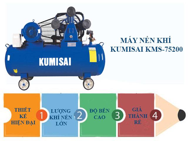 Ưu điểm nổi trội máy nén khí Kumisai KMS-75200