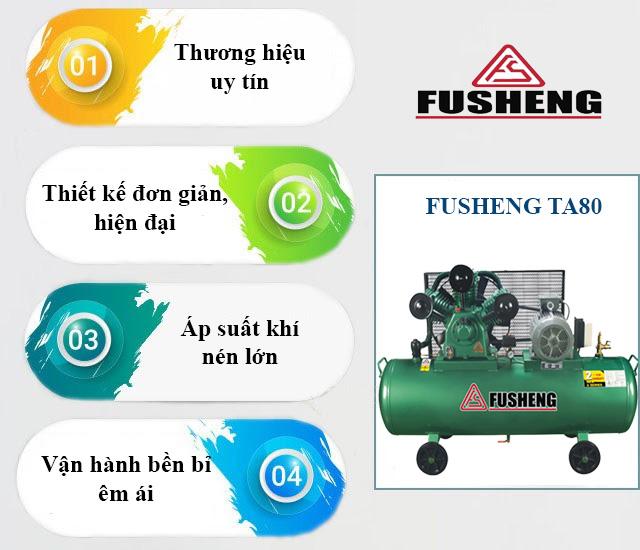 Ưu điểm nổi trội của model khí nén Fusheng TA80