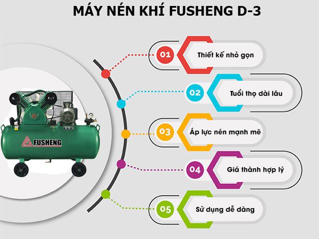 Ưu điểm nổi trội của model nén hơi Fusheng D3