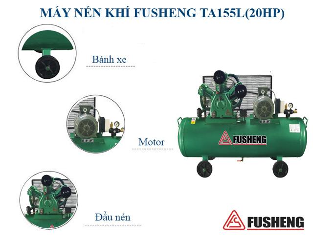 Fusheng TA-155l(20HP) - Thiết kế hiện đại, lưu lượng khí nén lớn
