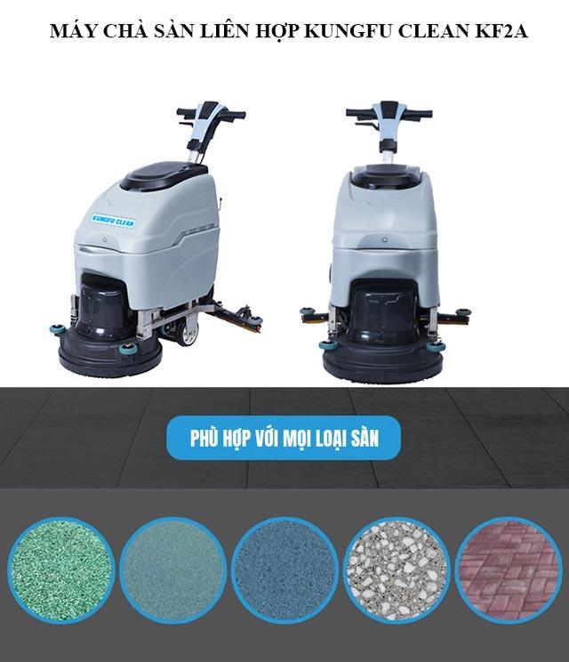 Kungfu Clean KF2A có thể làm sạch mọi loại sàn