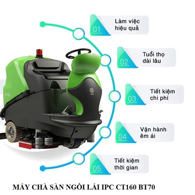 Tính năng nổi trội của model chà sàn ngồi lái IPC CT`60 BT70