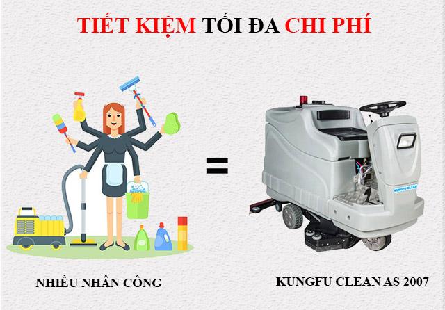 Máy chà sàn Kungfu Clean - Tiết kiệm tối đa chi phí cho doanh nghiệp