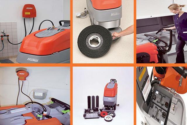 Kiểm tra và vệ sinh phụ kiện máy chà sàn