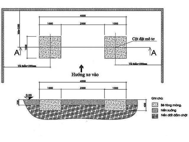 Cách lắp đặt cầu nâng 2 trụ