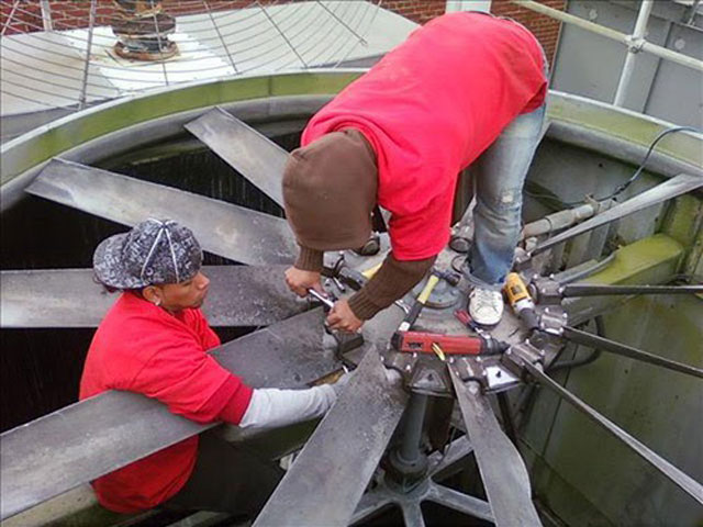 lắp đặt tháp giải nhiệt nước Tashin