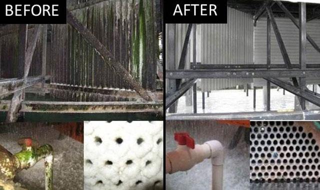 hóa chất vệ sinh tháp giải nhiệt