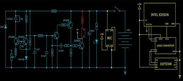 Sơ đồ mạch điện máy dò kim loại