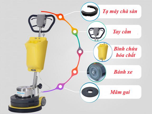 Những ưu điểm của máy chà sàn đơn Palada