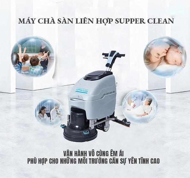 Máy chà sàn liên hợp Supper Clean đẳng cấp, sang trọng