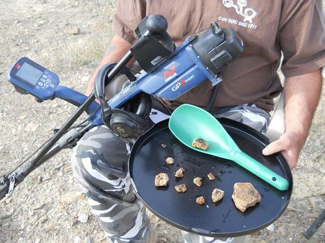 GPZ 7000 phát hiện vàng cốm siêu nhỏ