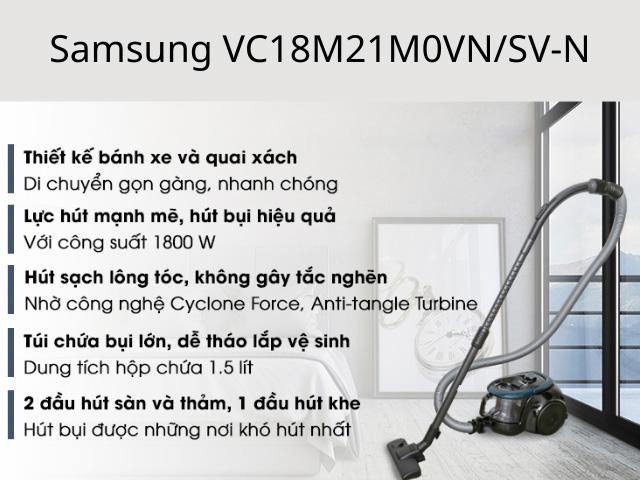 Máy hút bụi Samsung VC18M21M0VN/SV-N