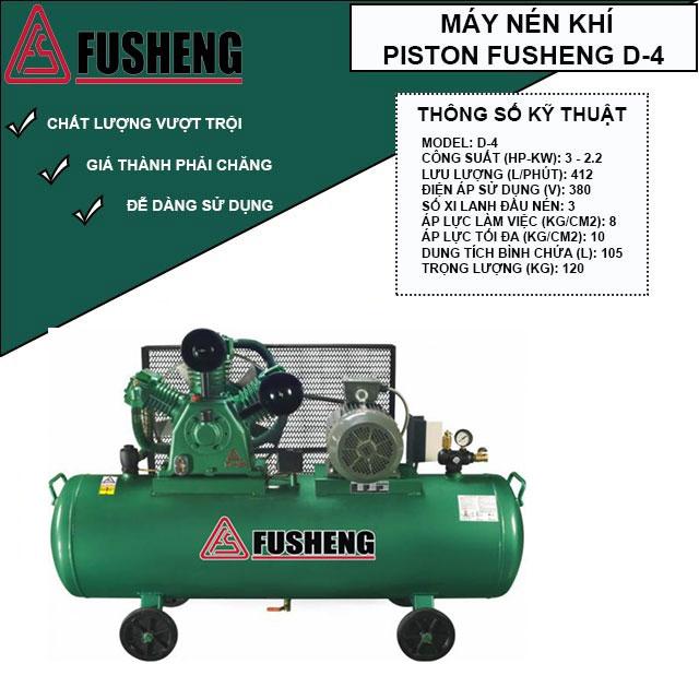 máy nén khí Fusheng D-4 điện áp 3 pha