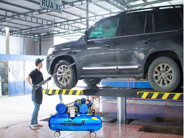 máy nén khí rửa xe