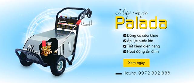 Máy phun rửa cao áp Palada có nhiều ưu điểm vượt trội