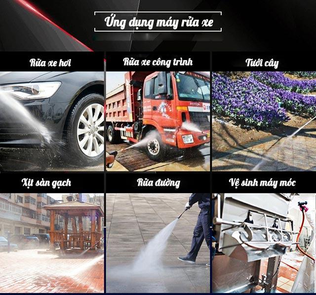 Thiết bị có ứng dụng đa dạng trong lĩnh vực vệ sinh - xịt rửa dân dụng & công nghiệp