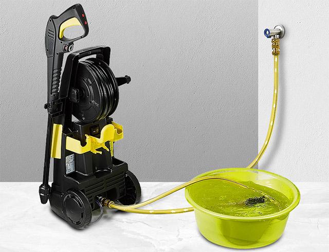 Máy phun rửa xe gia đình có thể lấy nước tại vòi hoặc tự hút nước