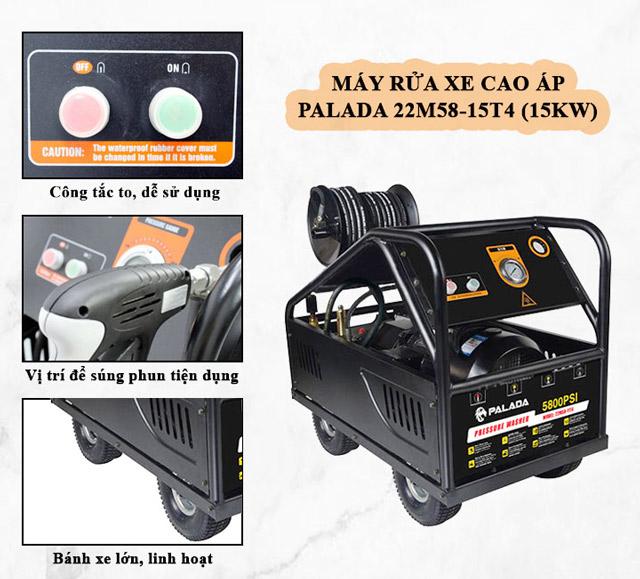 Palada 22M58-15T4 với áp lực phun xịt cực mạnh, dễ dàng sử dụng