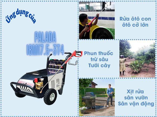 Palada 18M17.5-3T4 với công suất 3kW được ứng dụng rộng rãi