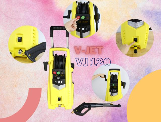 Model máy bơm rửa xe gia đình V-jet VJ 120