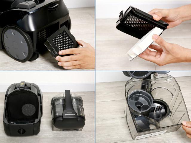 cách vệ sinh máy hút bụi panasonic