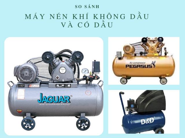 máy nén khí có dầu và không dầu