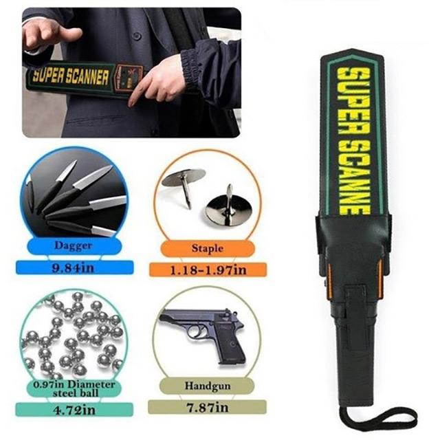 máy dò kim loại cầm tay an toàn với người dùng