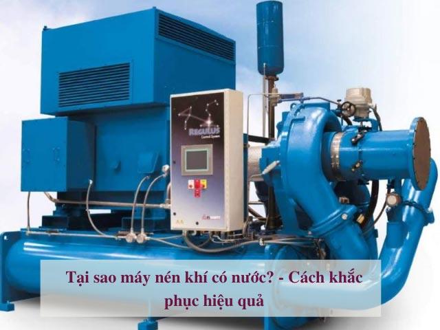 tại sao máy nén khí có nước