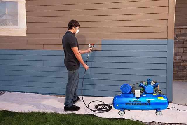 máy nén khí mini dùng phun sơn