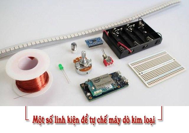 Các linh kiện đều khá dễ tìm kiếm để tự chế máy dò tìm kim loại