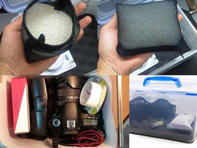 cách sử dụng gói hút ẩm cho máy ảnh