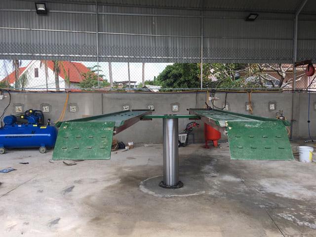 Cách làm móng cầu nâng 1 trụ rửa xe