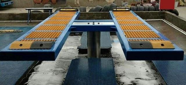 Cầu nâng 1 trụ chuyên rửa xe ô tô