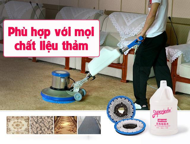 Thiết bị sử dụng để vệ sinh cho mọi loại mặt thảm