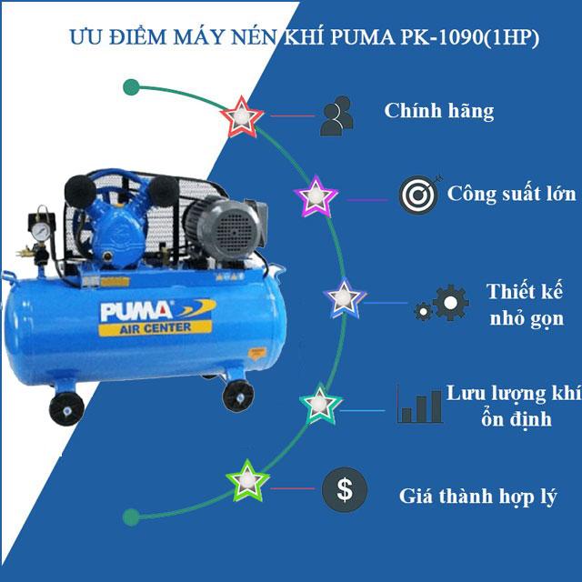 máy nén khí puma pk 1090 1hp
