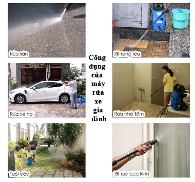 máy xịt rửa xe mini