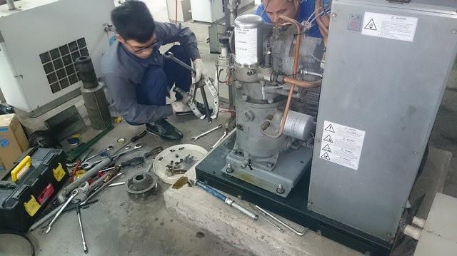 máy nén khí trục vít đã qua sử dụng