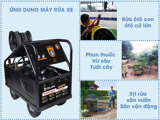 ứng dụng máy bơm rửa xe cao áp
