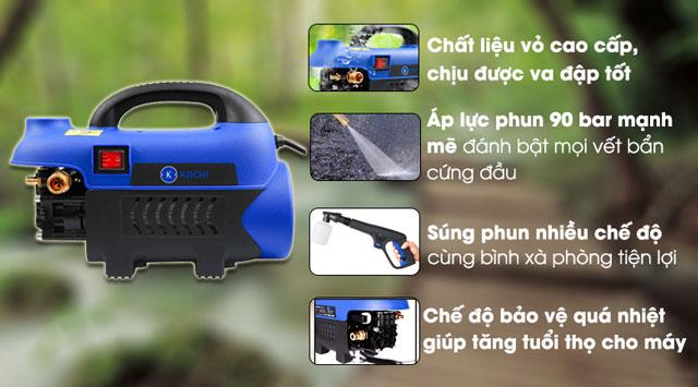 Ưu điểm của máy bơm nước rửa xe